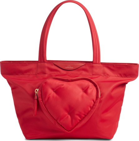 Anya Hindmarch Chubby Heart Mini East/West Nylon Tote