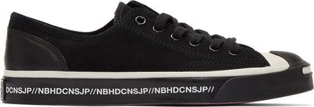 Neighborhood Black Converse Edition Jack Purcell Low Sneakers
