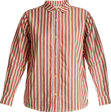 THE GREAT. The Campus striped cotton shirt