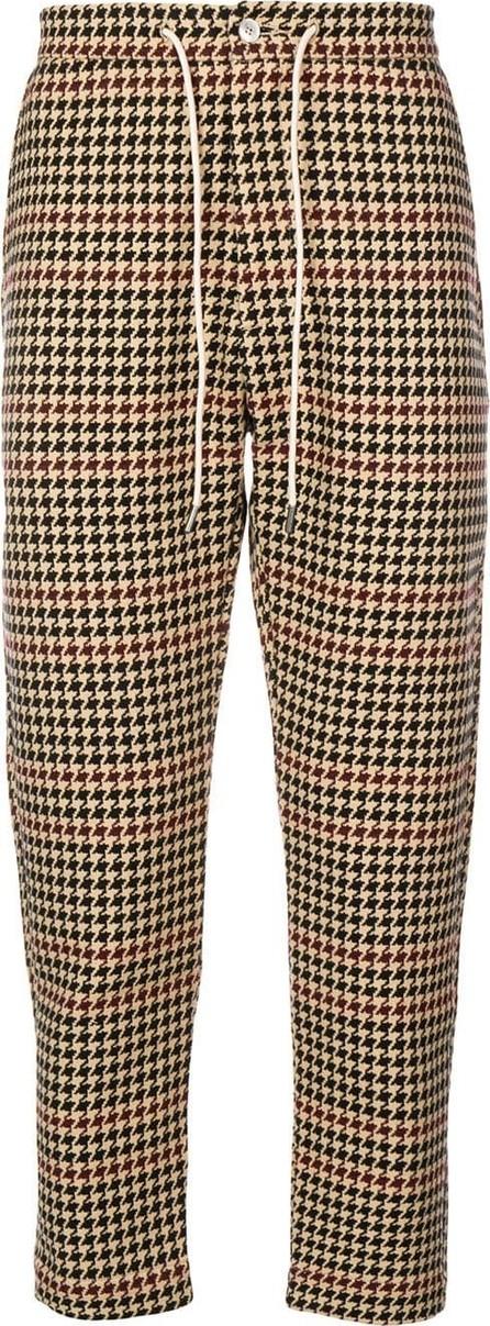 Drôle De Monsieur Houndstooth print trousers