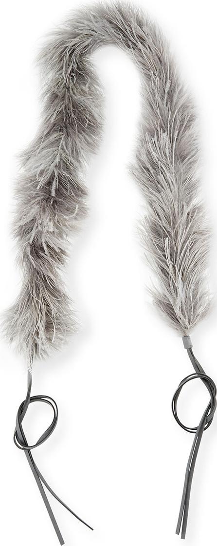 Prada Marabou Feather Charm Strap