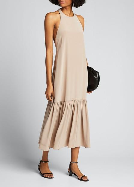 Tibi Eco Silk Halter Midi Dress