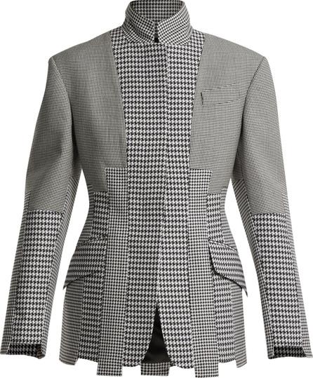 Alexander McQueen Paneled-houndstooth wool jacket