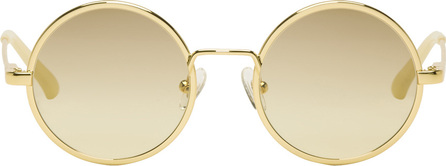 Dries Van Noten Gold Linda Farrow Edition 155 C3 Sunglasses