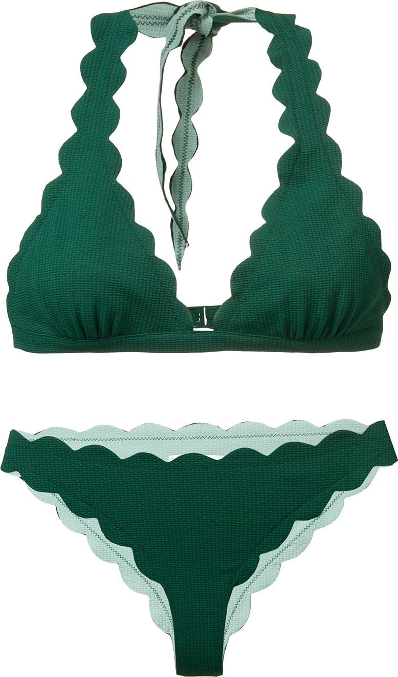 Marysia - Scalloped triangle bikini