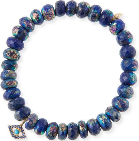 Sydney Evan 14k Lapis Bead & Turquoise Eye Bracelet