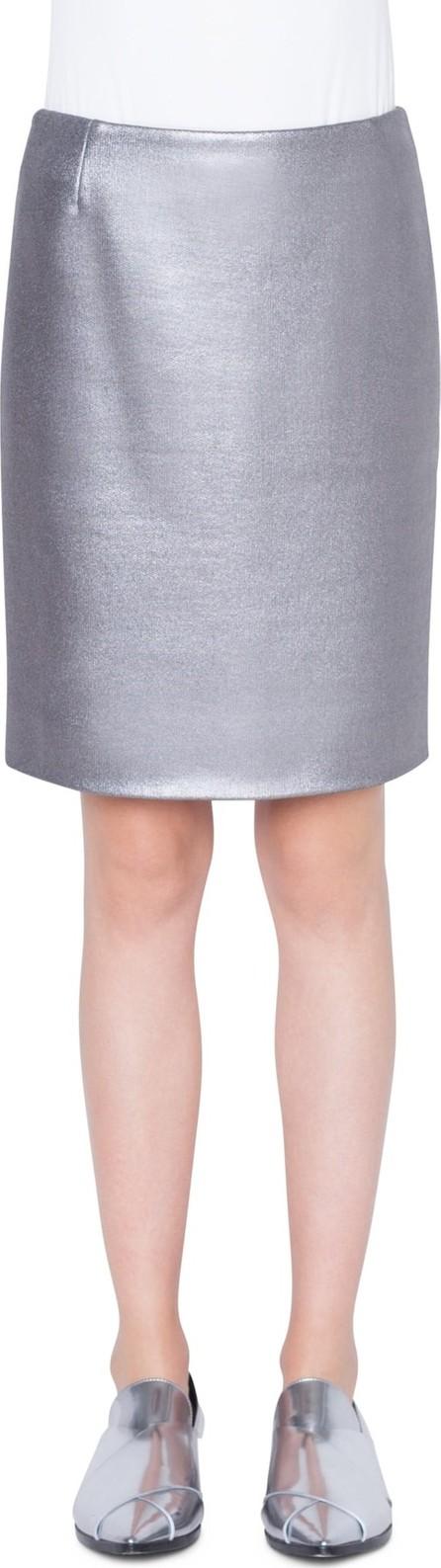 Akris Punto Coated Metallic Jersey Pencil Skirt