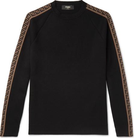 Fendi Slim-Fit Logo-Intarsia Wool Sweater