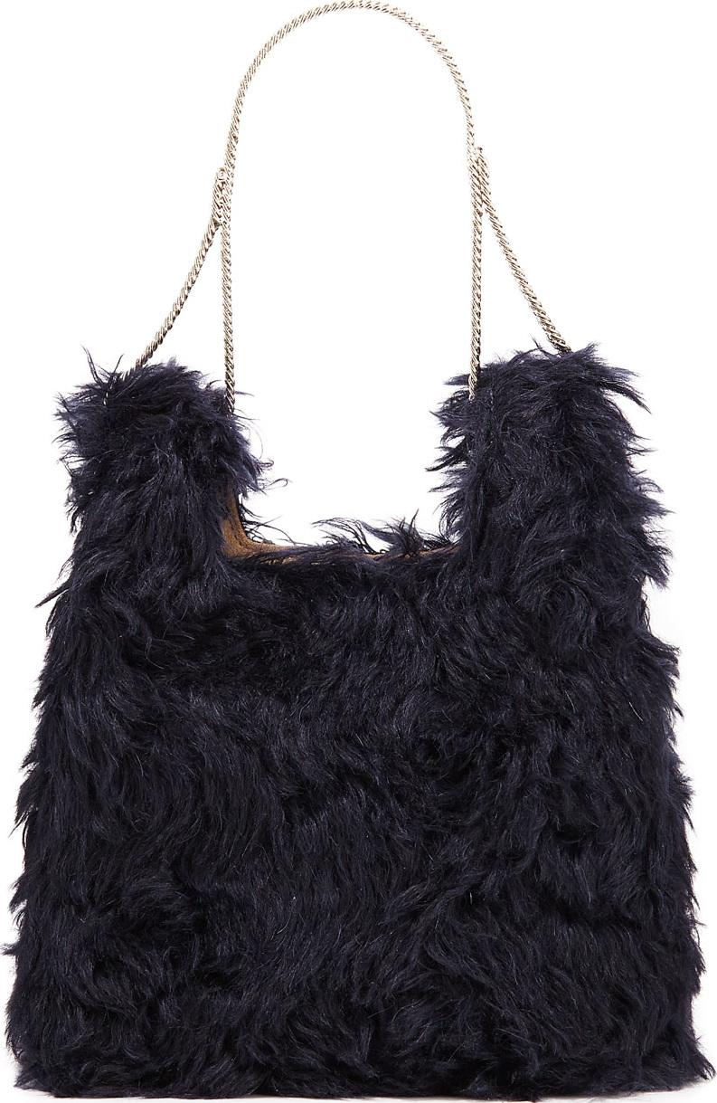 Hayward - Furry Mini Shopper On A Chain Tote Bag