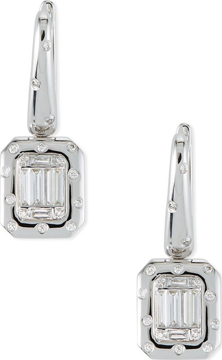 Andreoli 18k Baguette Diamond Drop Earrings
