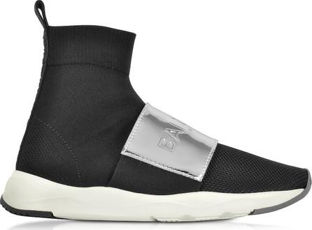 Balmain Black & Silver Cameron Knit Sock Sneakers