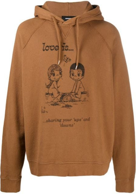 DSQUARED2 Love Is printed hoodie