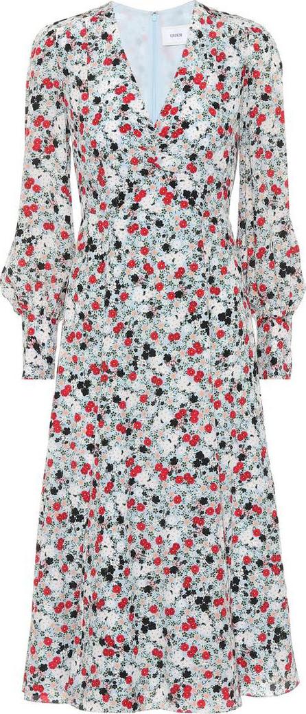 Erdem Floral-printed silk midi dress