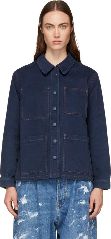 Acne Studios Blue Blå Konst Four-Pocket Denim Jacket