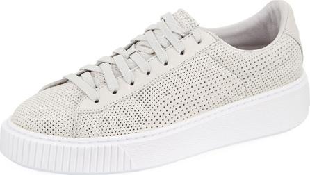 PUMA Basket Platform Perforated Sneaker