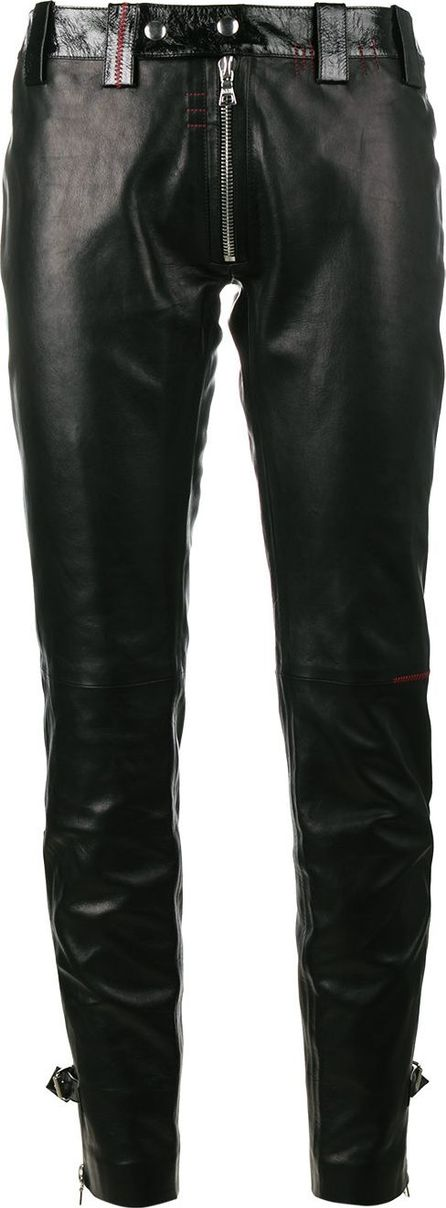 Beau Souci Exposed zip skinny leather trousers