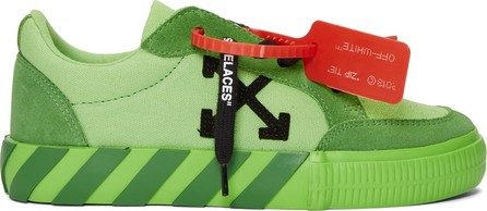 Off White SSENSE Exclusive Green Low Vulcanized Sneakers