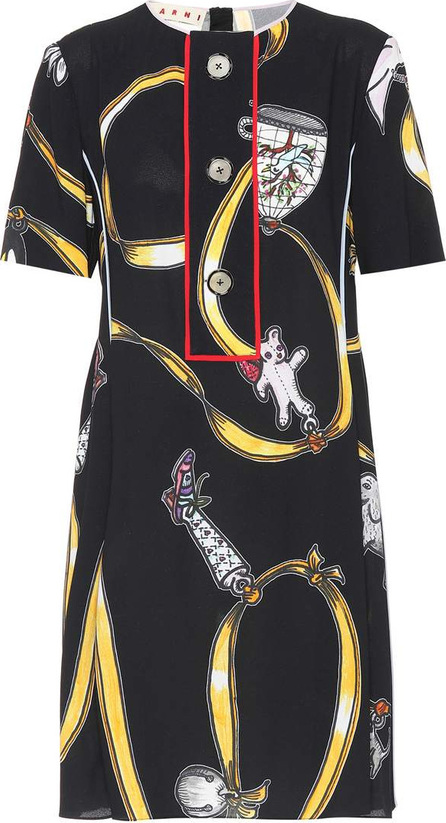 Marni Printed crêpe dress