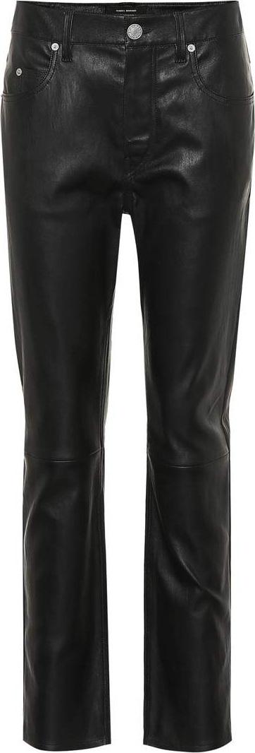 Isabel Marant Minlow straight-leg leather pants