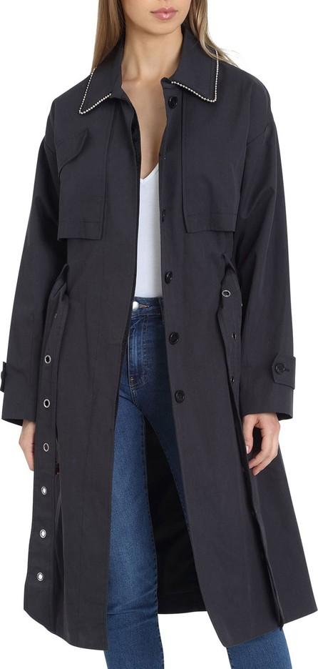 Badgley Mischka Brooke Cotton Utility Trench Coat