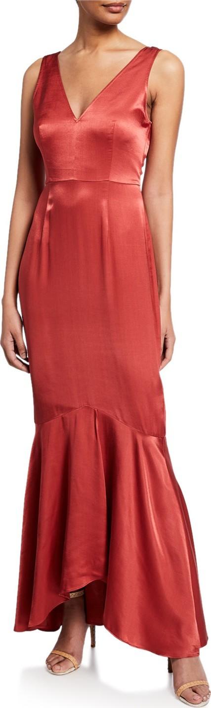 1861dec3f9a Donna Mizani Austen Long-Sleeve Maxi-Length Wrap Dress - Mkt