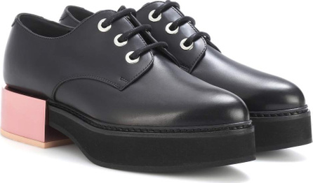 Alexander McQueen Leather platform Derby shoes