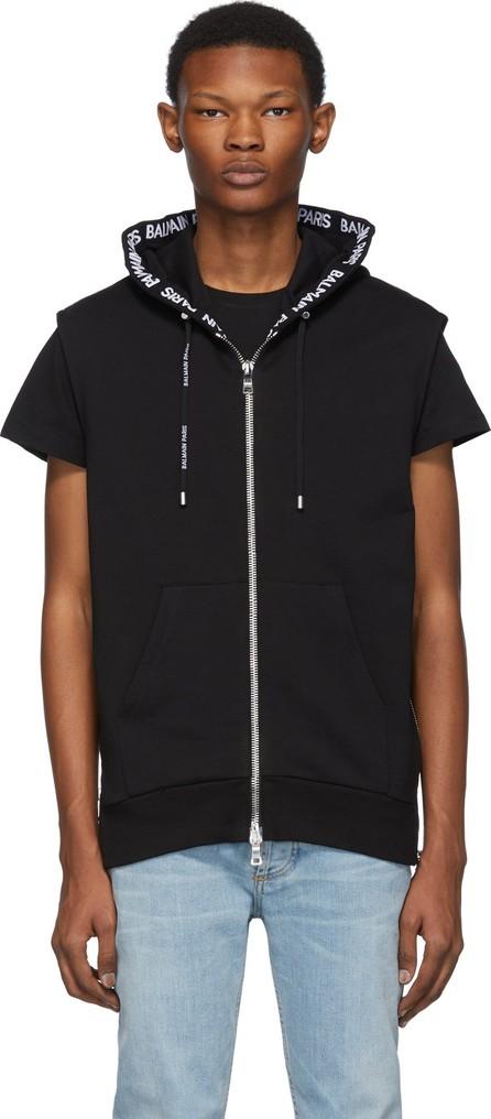 Balmain Black Zipped Hoodie
