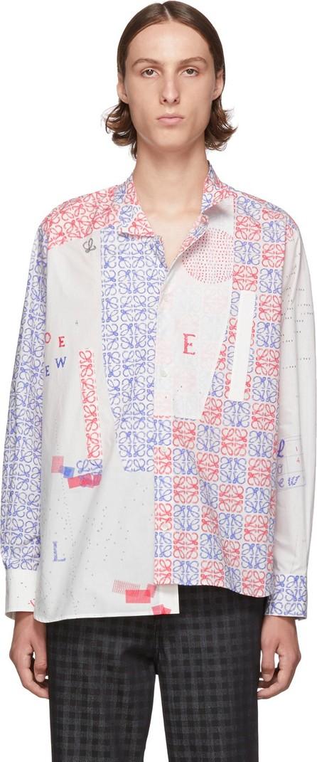 LOEWE White Asymmetric Anagram Shirt