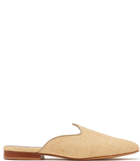 Le Monde Beryl Venetian backless raffia slipper shoes