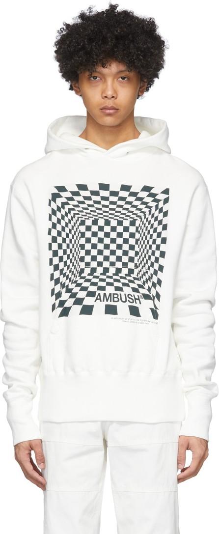 Ambush White Checkered Print Hoodie