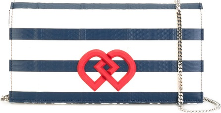 DSQUARED2 mini DD striped crossbody bag