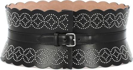 Alaïa Studded wide leather belt