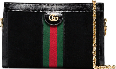 Gucci Black Ophidia small suede shoulder bag