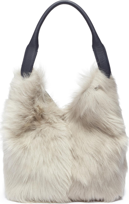 Anya Hindmarch 'Build A Bag' small shearling and leather crossbody bag