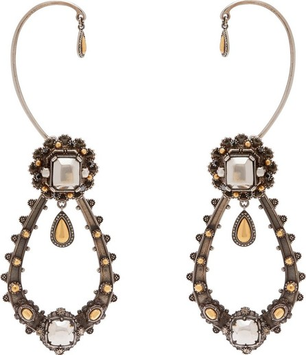 Alexander McQueen Crystal-embellished drop earrings