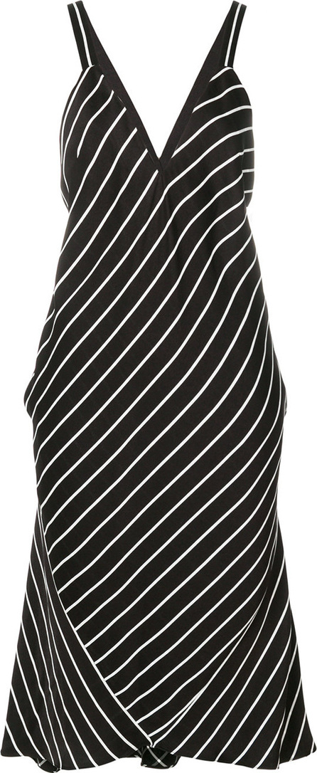 Haider Ackermann V-neck striped dress