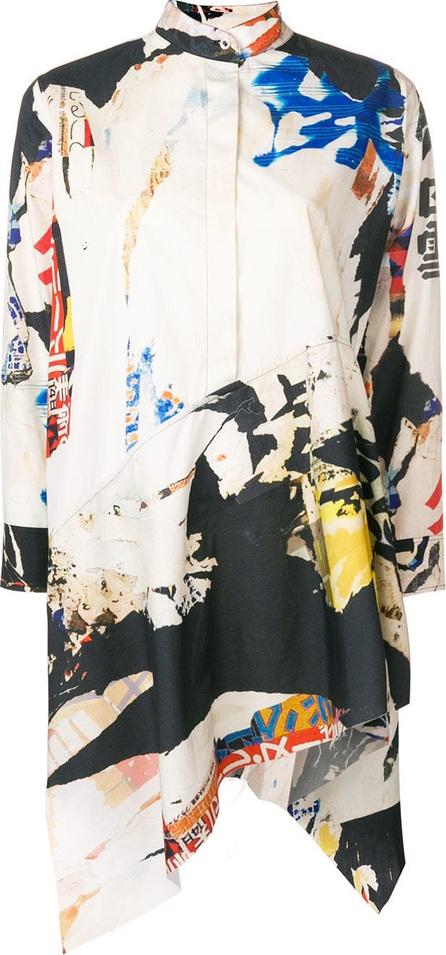 Marques'Almeida Asymmetrical print tunic
