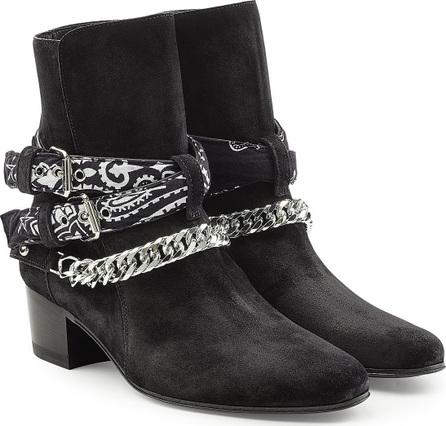 Amiri Bandana Buckle Suede Ankle Boots