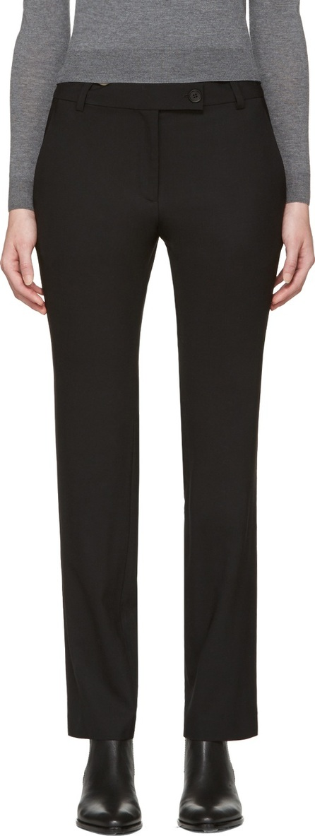 6397 Black Stovepipe Trousers