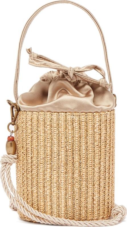 Glorinha Paranagua Elba straw bucket bag