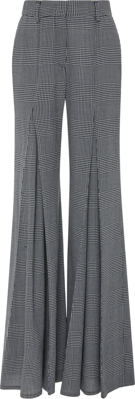 Off-White x Virgil Abloh Pleated Houndstooth Wool-Crepe Wide-Leg Pants