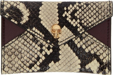 Alexander McQueen Black & Off-White Envelope Card Holder