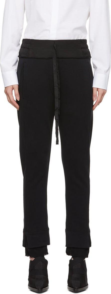 Ann Demeulemeester Black Jogger Lounge Pants