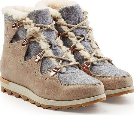 Sorel Sneakchic Alpine Holiday Leather Ankle boots with Shearling