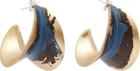 Albus Lumen Painted hoop earrings