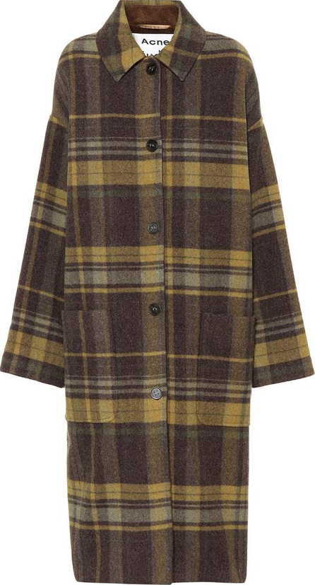 Acne Studios Plaid wool-blend coat