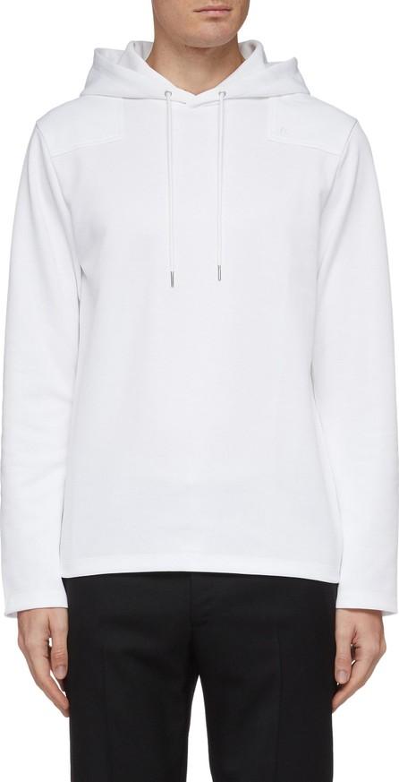 Helmut Lang Logo embroidered split back hoodie