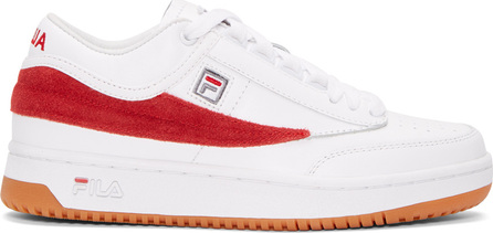 Gosha Rubchinskiy White & Red Fila Edition T-1 Mid-Top Sneakers