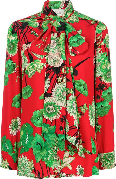 Gucci Floral-print crepe de chine shirt