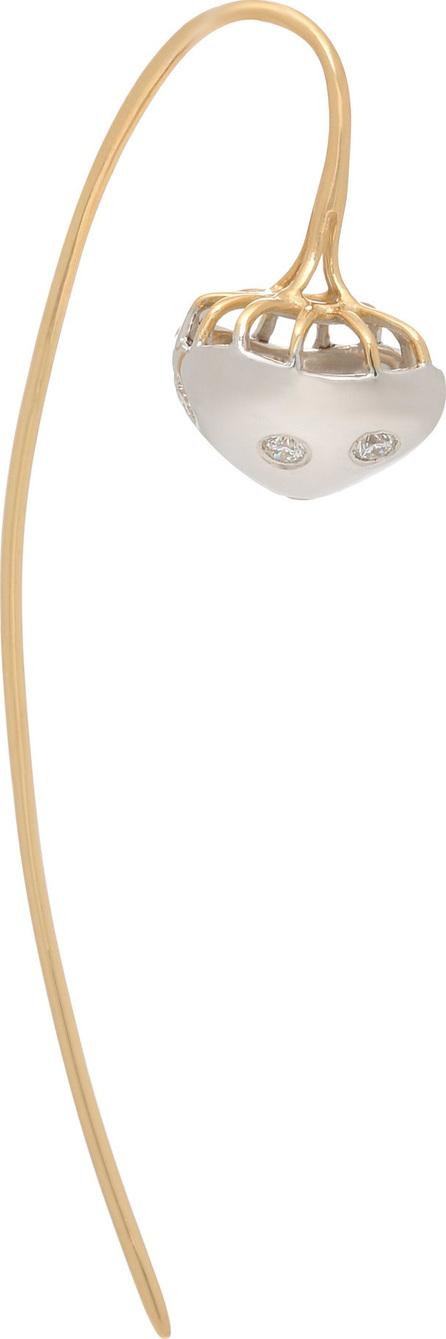 Donna Hourani Mushroom 18K Gold and Diamond Earrings